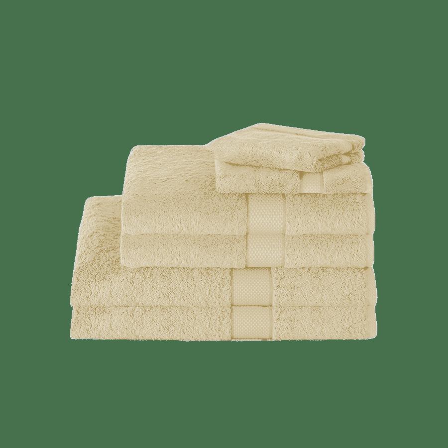 YogiK Supreme Cotton Luxury Towel Zero Twist Set of 6 - 600 GSM Pearled Ivory